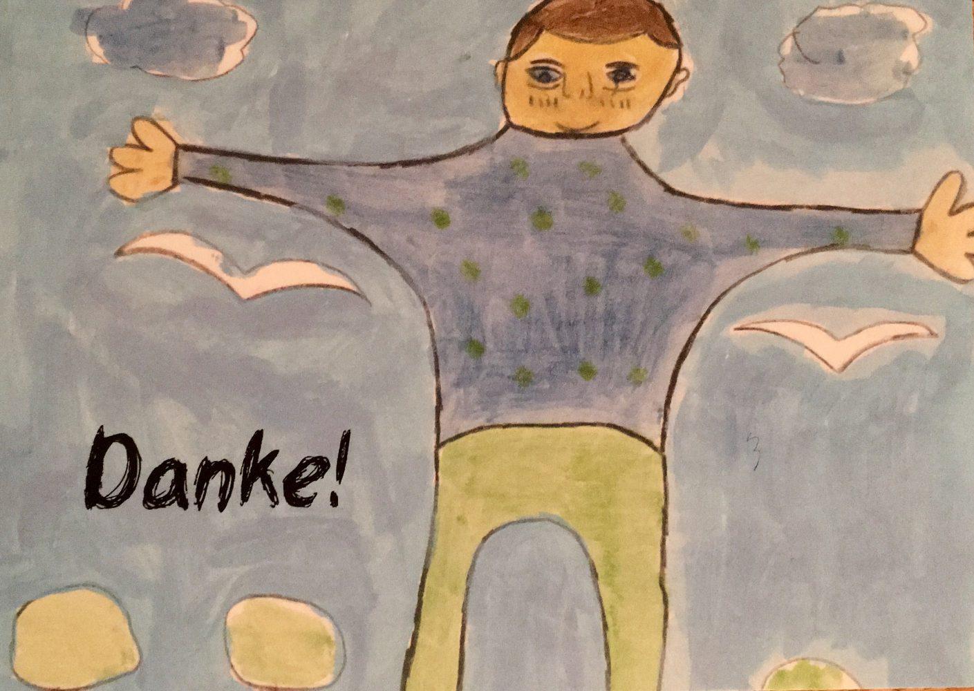 Voller Dankbarkeit